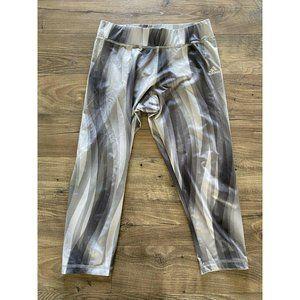 ADIDAS Climalite Striped Crop Gray Stripe Leggings